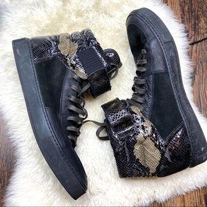 Men's Yves Saint Laurent Snakeskin Print Sneakers